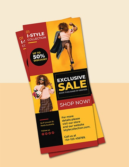 free fashion rack card