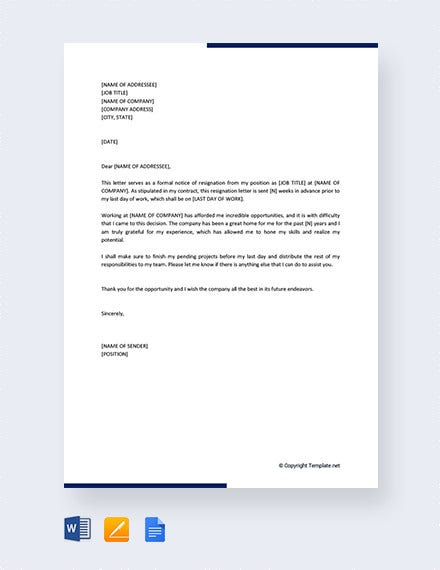 24+ Notice Period Letter Templates - PDF, DOC | Free