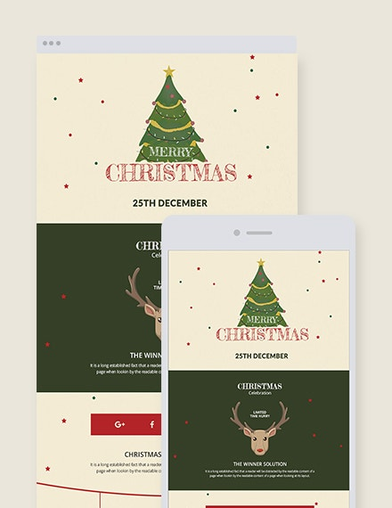 free holiday christmas newsletter template