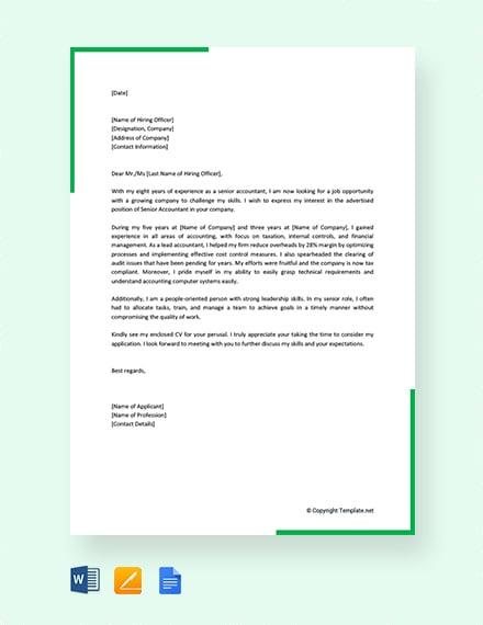 11+ Job Application Letter Templates for Volunteer | Free & Premium ...