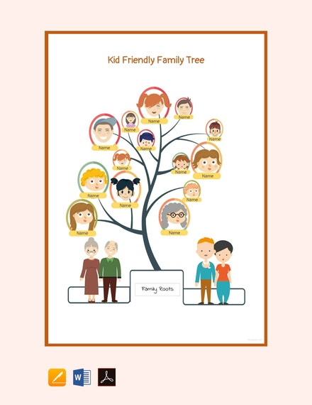 free kid friendly family tree template 440x570 1