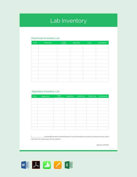 free-lab-inventory-template
