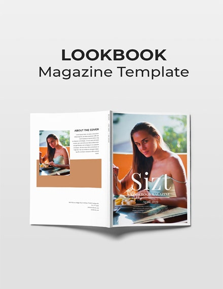 free lookbook magazine template 1x 1