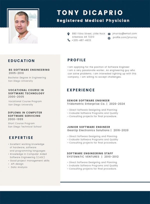 free medical student resume format