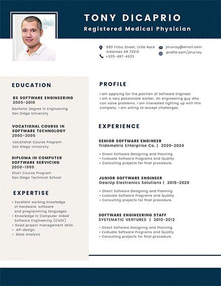 free medical student resume format1