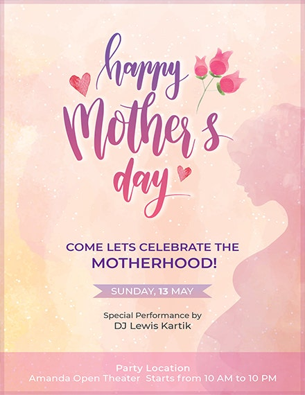 free mothers day invitation template