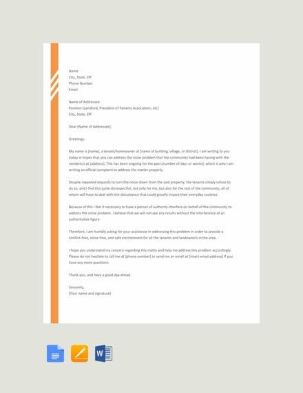 11+ Noise Complaint Letter Templates - PDF, DOC | Free