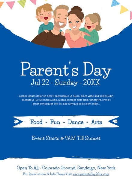free parents day invitation