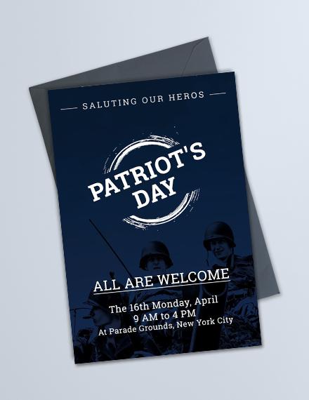 free patriots day invitation template