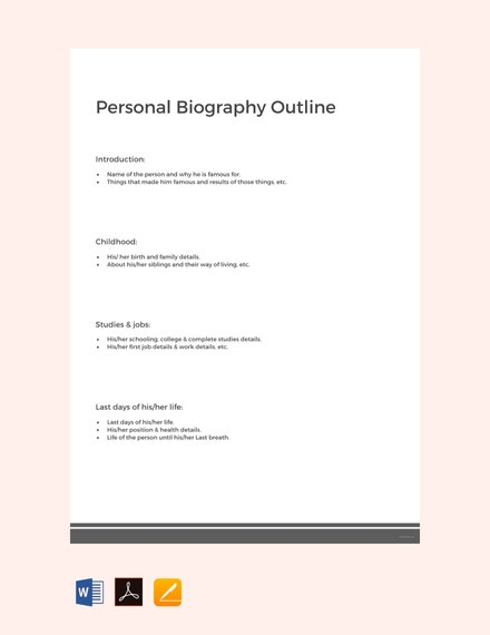 free personal biography outline template 440x570 1