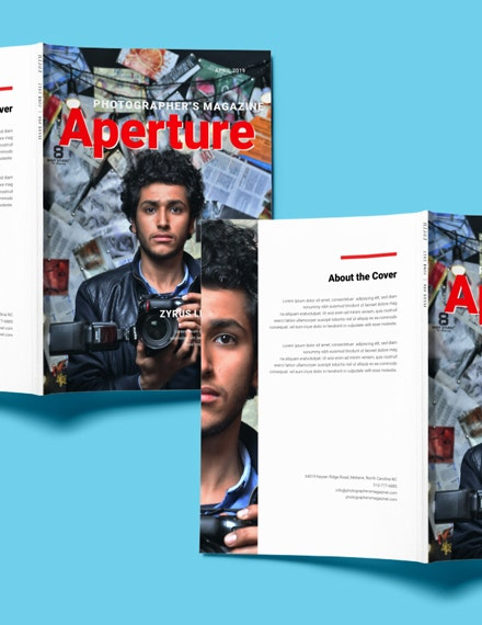 free photographer magazine template 1 1x 1