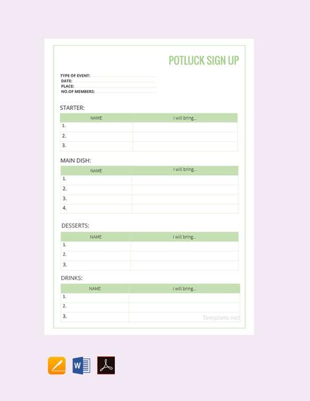 free potluck sign up sheet template 440x570 1