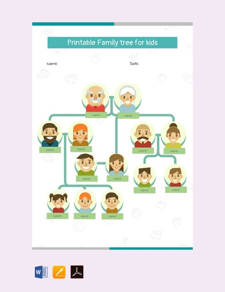free printable family tree for kids template 440x570 1