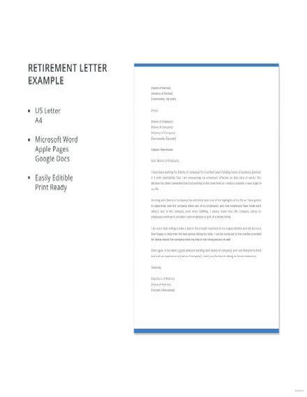 Free Retirement Letter