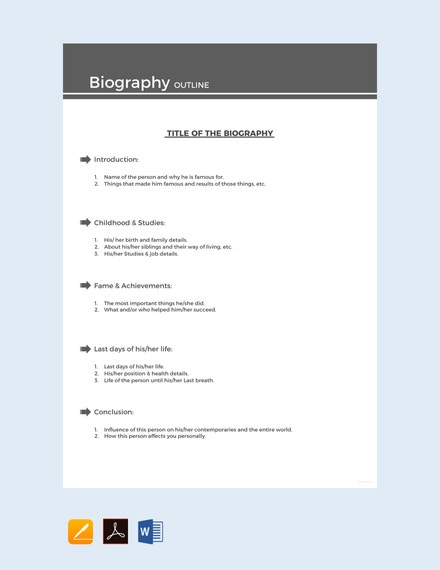 free sample biography outline template 440x570 1