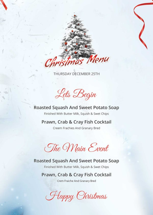 free-simple-christmas-menu-template
