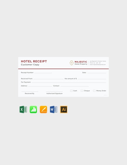 Free Simple Hotel Receipt