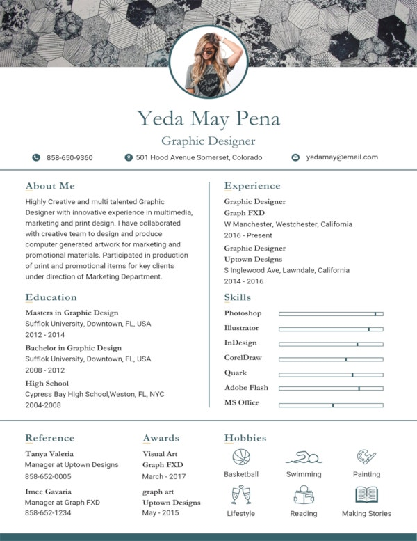 free simple modern resume template