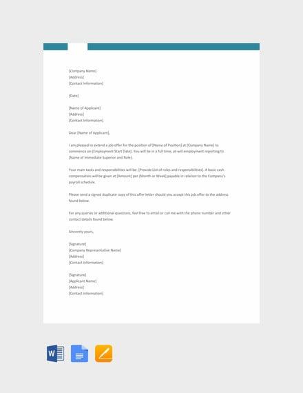 70+ Offer Letter Templates - PDF, DOC | Free & Premium Templates