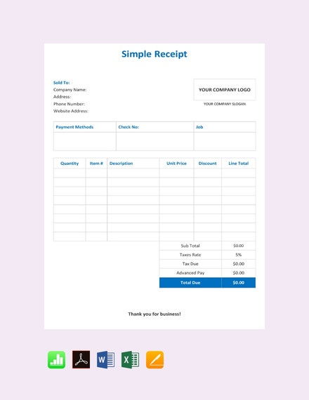free simple receipt template 440x570 1
