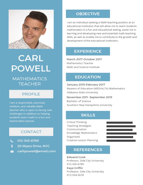 free simple resume template1