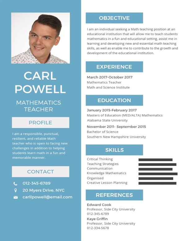 12  formal curriculum vitae