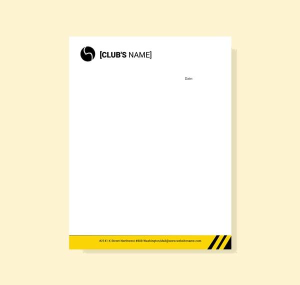free sports letterhead template