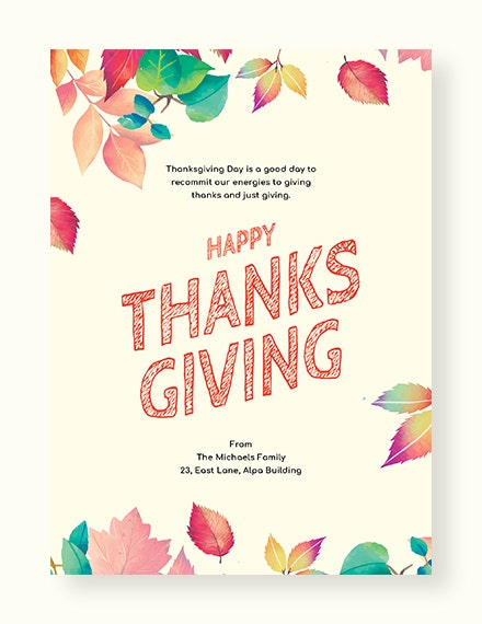 Free Thanksgiving Card Template