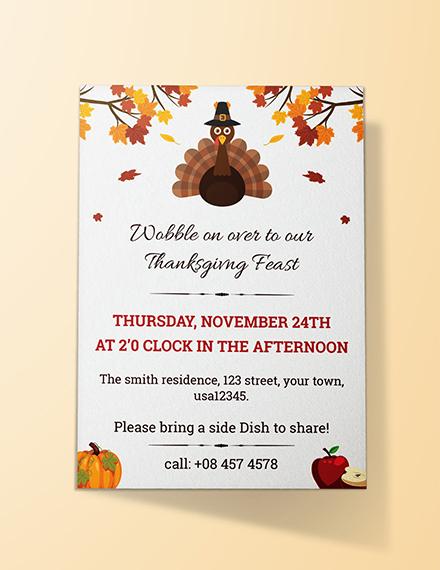Free Thanksgiving Dinner Invitation Template
