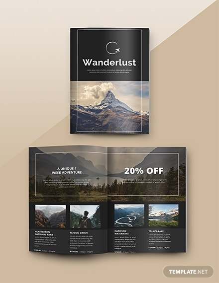 free travel catalog template in psd