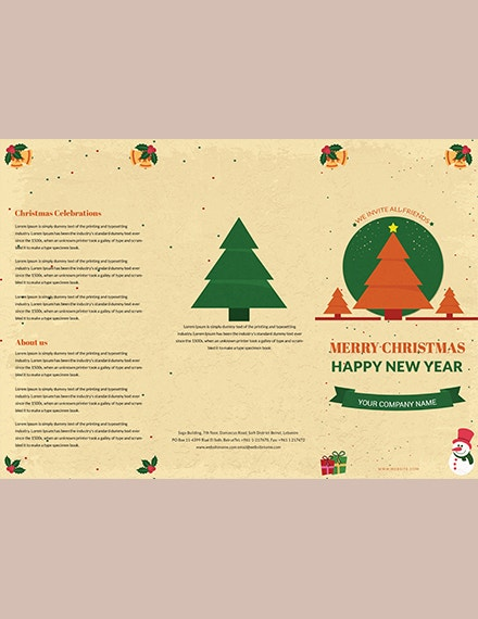 40 christmas brochures templates psd word publisher apple