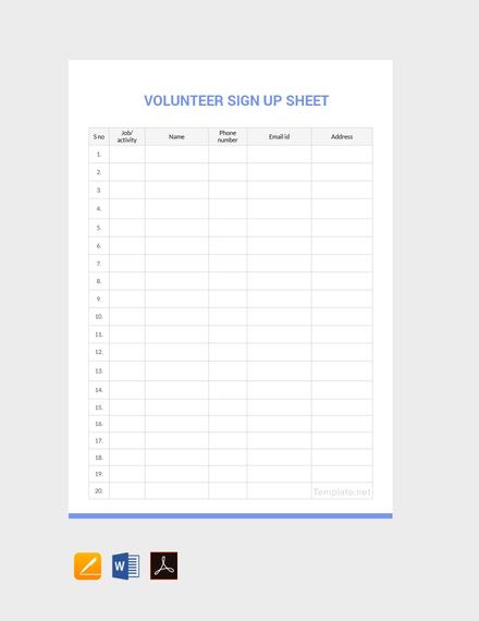 free volunteer sign up sheet template 440x570 11