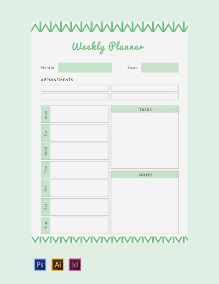free weekly planner template 440x570 1