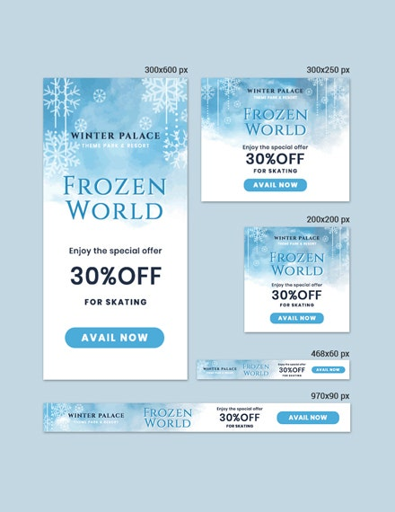 frozen banner psd template