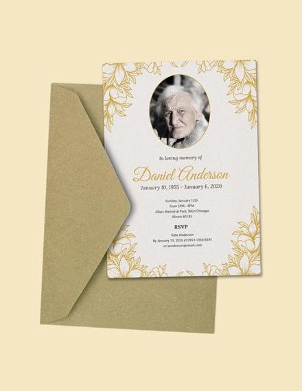 funeral ceremony invitation template