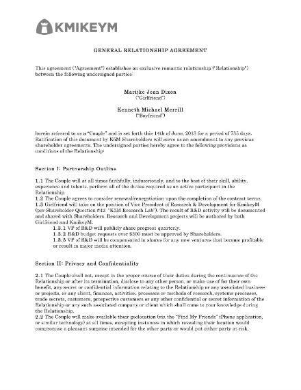 general relationship agreement 1