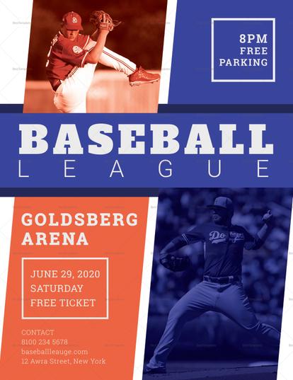goldsberg baseball league flyer example