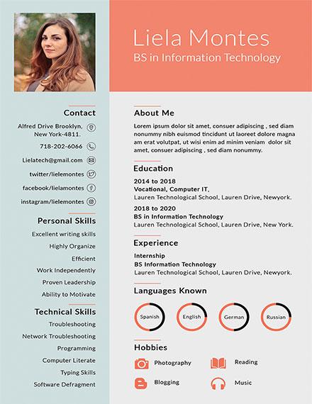 graduate resume template