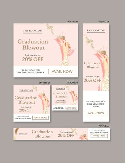 graduation banner template in psd
