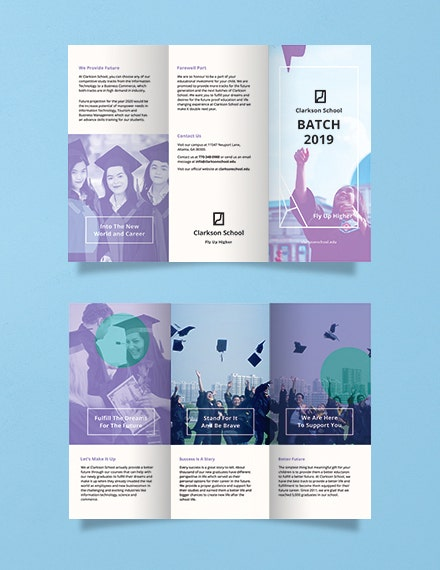 graduation brochure psd template