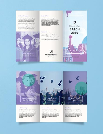 graduation brochure template in illustrator