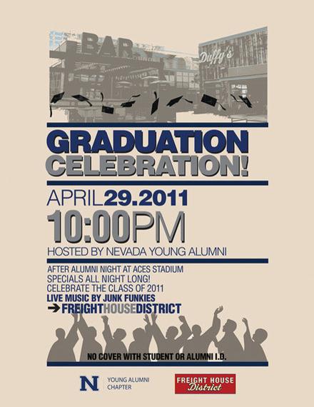 graduation celebration poster example