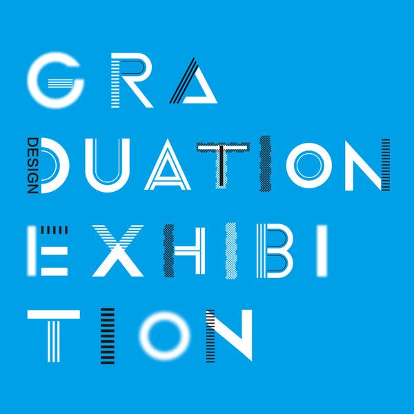 graduation exhibition poster example