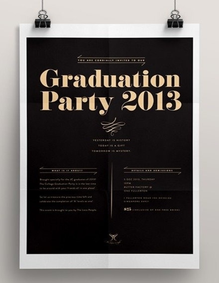 graduation party poster template