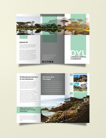 green landscape company brochure layout