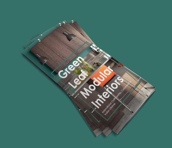 green leaf brochure design