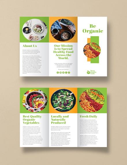 green organic food brochure design