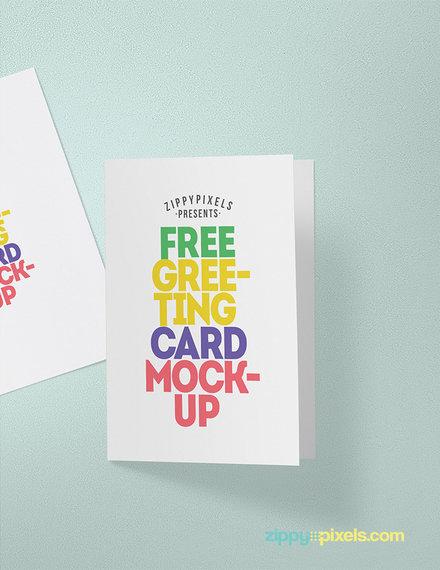greeting card mockup sample