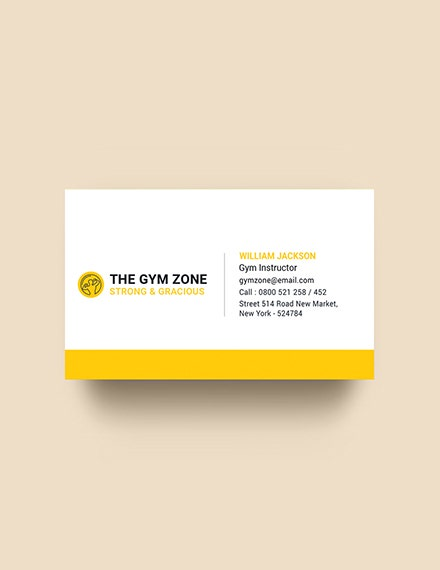 gym business card template in psd