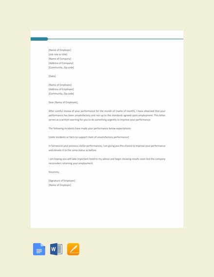 hr warning letter format